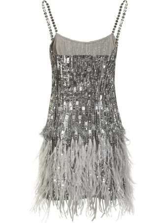 Amen Feather Embroidered Dress