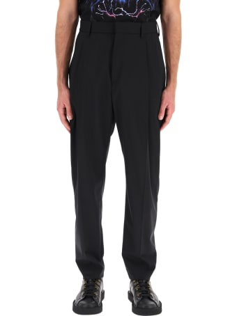 MSGM Trousers With Pleats