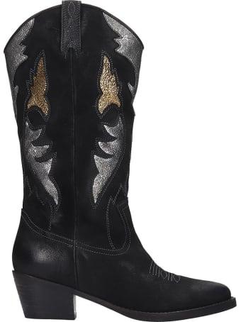 Bibi Lou Boots In Black Nubuck