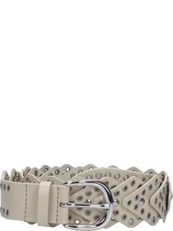 Isabel Marant Nowy Belts In Beige Leather