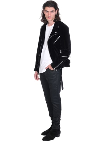 Route des Garden Biker Jacket In Black Velvet