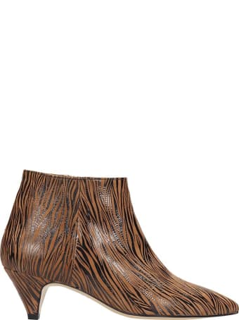 Alchimia Low Heels Ankle Boots In Leather Color Leather