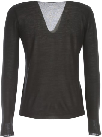 Nuur V Neck Wool & Silk Sweater