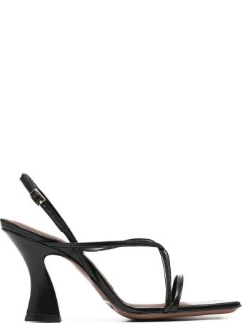 L'Autre Chose Strappy Sandals In Black Leather