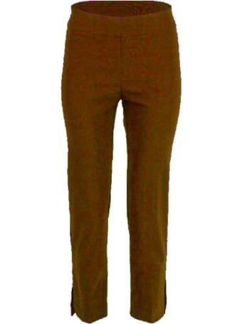 Avenue Montaigne Short Slim Pants W/slit On Bottom