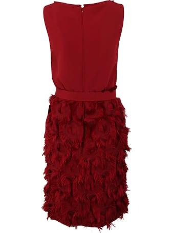 Max Mara Pianoforte Pianoforte Feathered Sleeveless Dress