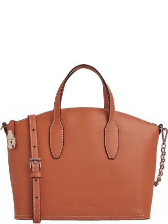 Calvin Klein Lock Light Brown Handbag
