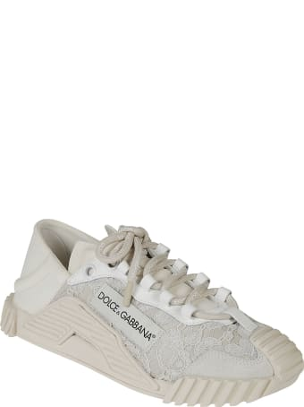 Dolce & Gabbana Laced Detail Logo Sneakers