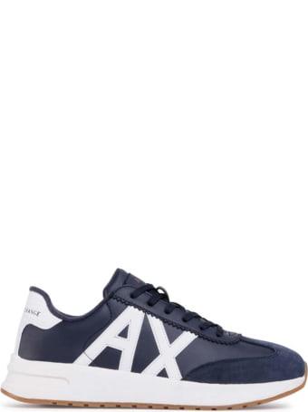 Armani Collezioni Armani Exchange Sneaker Blu Uomo