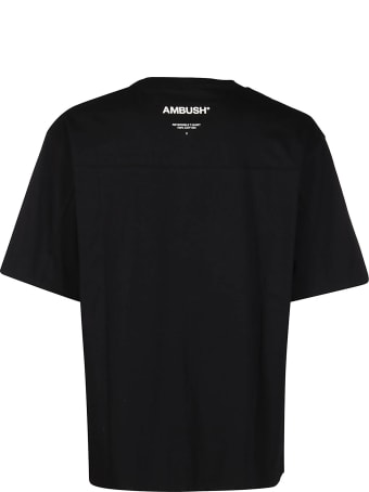 AMBUSH Black And Mint Green Cotton Reversible T-shirt