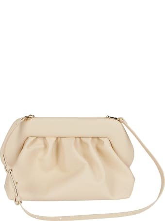 THEMOIRè Cream Faux-leather Clutch Bag