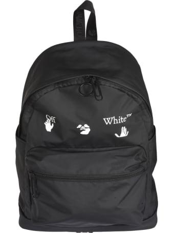 Off-White Ow Logo Pvc Backpack