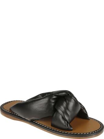 Miu Miu Open Toe Stitched Sandals