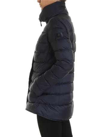 Peuterey Blue Flagstaff Down Jacket In Blue Color