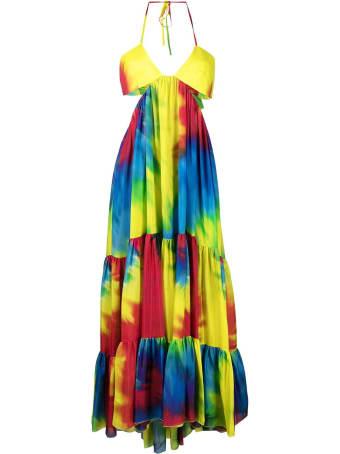 Alexandre Vauthier Tie-dye High-low Babydoll Dress