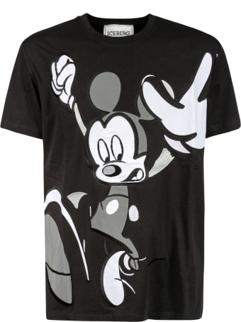 Iceberg Mickey Mouse Embroidered T-shirt