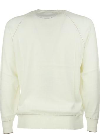Brunello Cucinelli Crew Neck Sweatshirt Natural