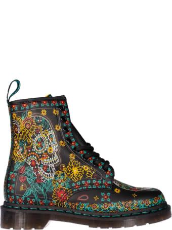 Dr. Martens Skull Ankle Boots
