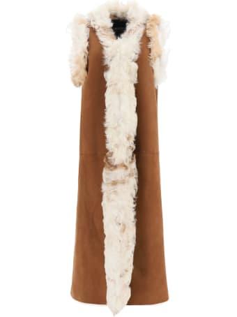 Simonetta Ravizza Sandy Shearling Vest