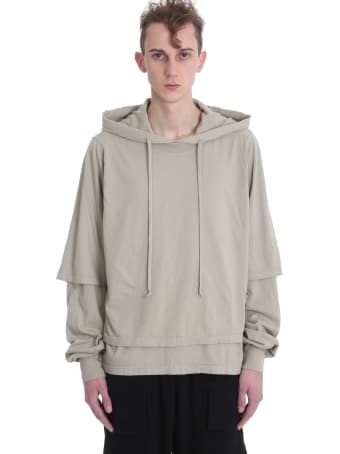 DRKSHDW Hustler Sweatshirt In Beige Cotton