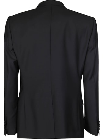 Dolce & Gabbana Black Wool Blend Three-piece Dinner Suit