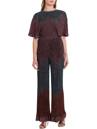 M Missoni Ribbed Lurex Knit Jumpsuit