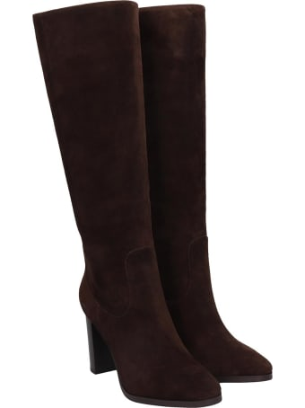 Lola Cruz Boots In Brown Suede