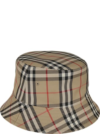 Burberry Heavy Cotton Check 2 Panel Bucket Hat