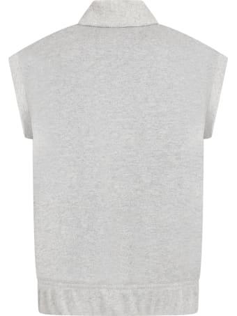 Raquette Grey Sweatshirt For Kids With Logo