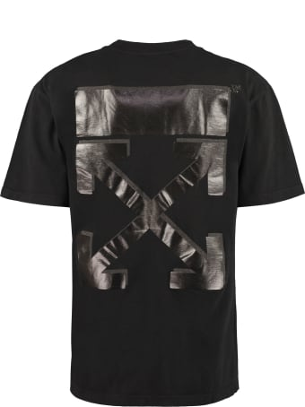 Off-White Cotton Crew-neck T-shirt