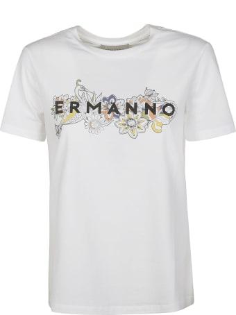 Ermanno Ermanno Scervino Logo Printed T-shirt