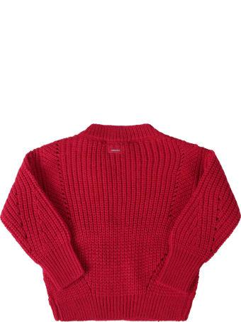 Catimini Fuchsia Sweater For Girl