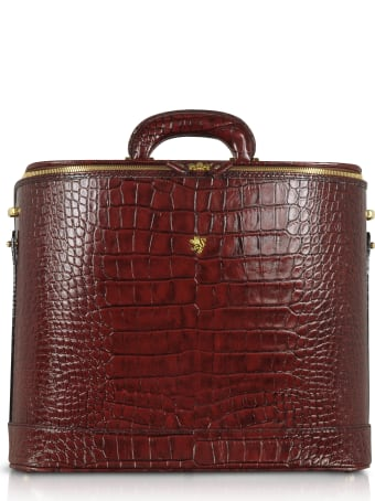 Pratesi Croco Stamped Leather Laptop Business Bag W/courtesy Light