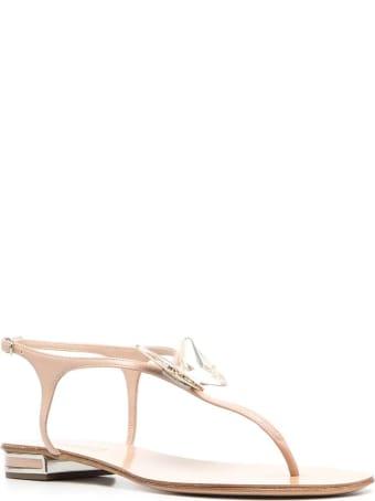 Casadei Light Pink Butterfly Sandal