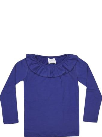 Le Petit Coco Ruffle Collar Long Sleeve T-shirt