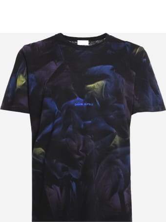 Saint Laurent Cotton T-shirt With All-over Tie-dye Print