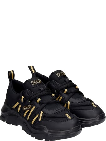 Versace Jeans Couture Sneakers In Black Synthetic Fibers