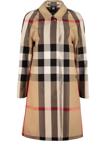 Burberry Checked Print Coat