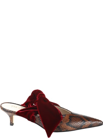 GIA COUTURE Calf Mules With Hell