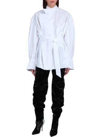 Thierry Mugler Oversized Shirt With Belt