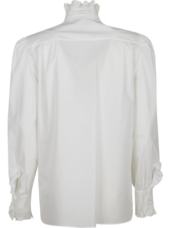 Alberta Ferretti Ruffled Collar Bow Applique Shirt