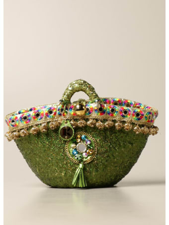 Sikuly Handbag Brillanti Sikuly Coffa Bag With Micro Sequins And Embroidery