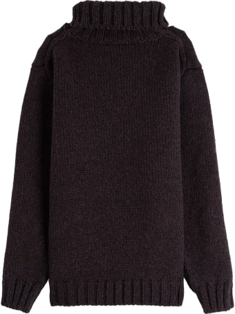 Dolce & Gabbana Wool Blend Sweater With Owl Embroidery