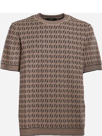 Fendi Crewneck Sweater With All-over Ff Motif