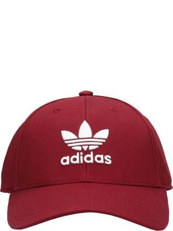 Adidas Basbel Class Tr Hats In Bordeaux Cotton