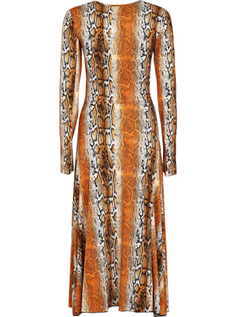 Rotate by Birger Christensen Python Print Midi Dress