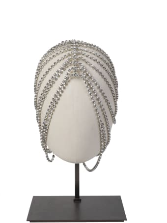 AREA Silver Crystal Hairpiece