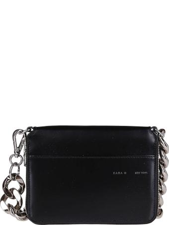 Kara Black Leather Large Bike Wallet