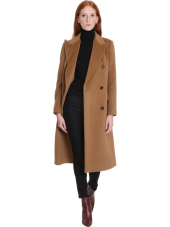 Tagliatore 0205 Jole Coat In Leather Color Wool