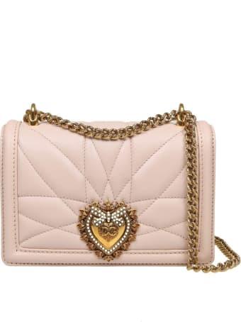 Dolce & Gabbana Mini Devotion Bag In Matelassé Nappa Color Powder